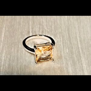 Jewelry - Morganite Square SS .925 Ring / size (5) NWB!